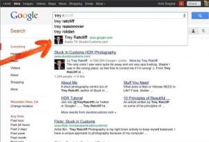 Google продолжает интеграцию Google + с поисковиком