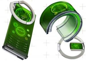 Nokia патентует идею эластичного телефона